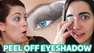 We Tried Peel Off Eyeshadow • Saf & Candace