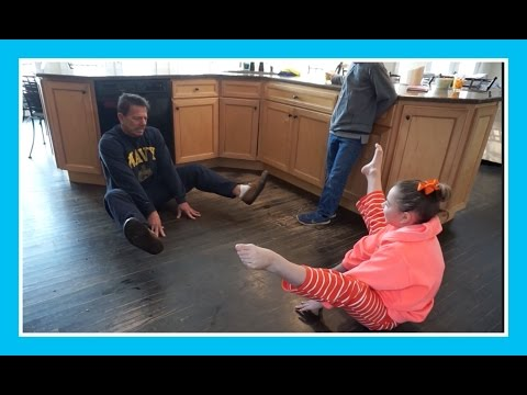 Press Handstand Lessons For Dad | Flippin' Katie