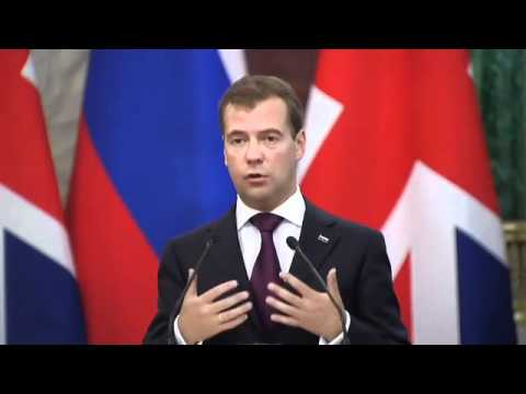 President Medvedev and PM Cameron's press conference in Moscow