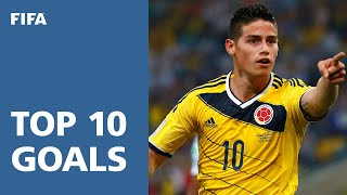 vuclip TOP 10 GOALS: 2014 FIFA World Cup Brazil™ [OFFICIAL]