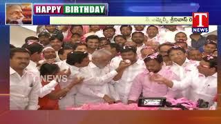 CM KCR Birthday Celebrations at Telangana Bhavan   Telugu