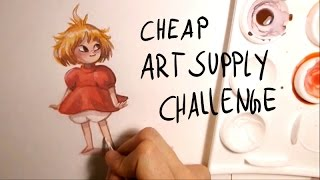 CHEAP ART SUPPLY CHALLENGE  [tiny Ponyo Fan Art] by Iraville