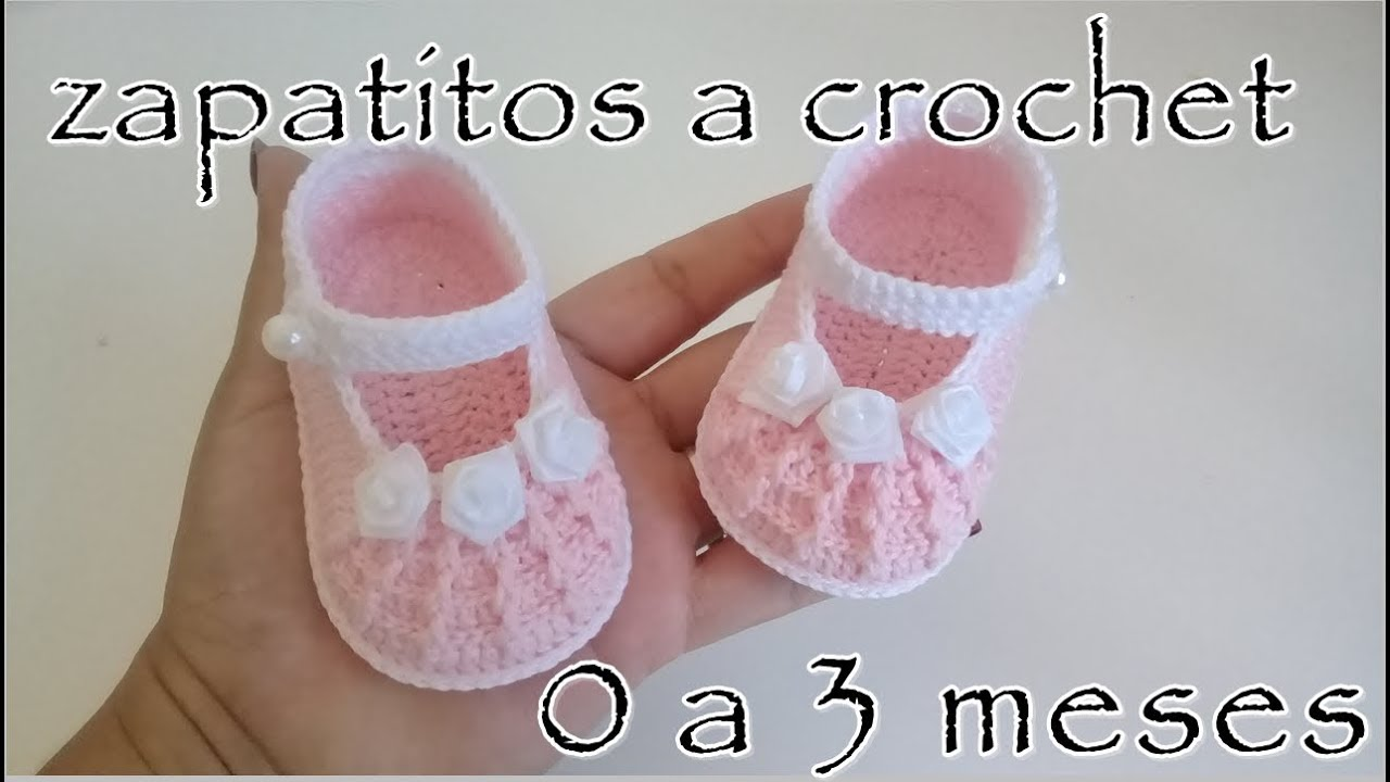 Zapatitos A Crochet Para Bebé En Relieve Modelo Rebecca 0 3 Meses Youtube