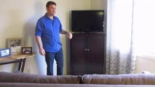 Home Corner Storage Solution With Corner Cabinet