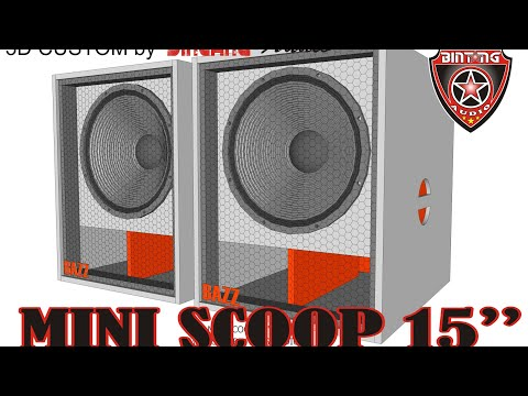 """MINI SCOOP 15"""" BOX SPEAKER"""