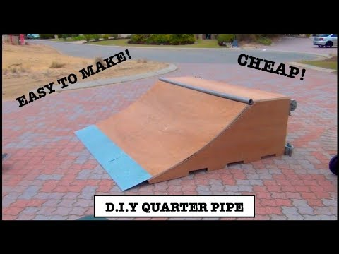 HOW TO BUILD A D.I.Y QUARTER PIPE SKATE RAMP *easiest way*