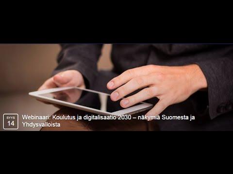 Koulutus ja digitalisaatio 2030 – näkymiä Suomesta ja Yhdysvalloista
