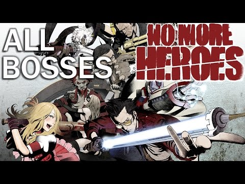 No More Heroes: All Bosses and True Ending (Dolphin 4K 60fps)