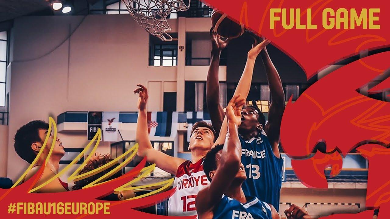 Turkey v France - Full Game - Quarter-Final - FIBA U16 European Championship 2017