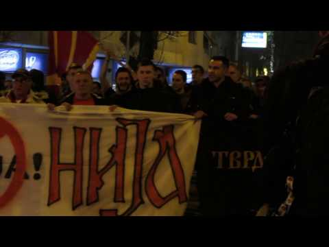 RAW: Macedonian Patriotic Alliance Protest
