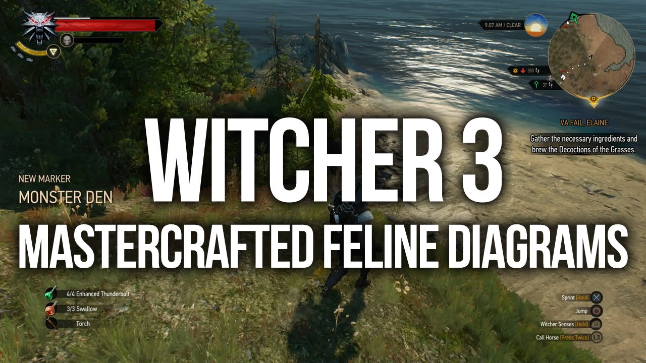 Witcher 3 - ALL Mastercrafted Feline Diagram Locations (Upgrade ...