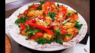 ОЧЕНЬ вкусная ЖАРЕНАЯ картошка ПО КОРЕЙСКИ лучший рецепт из картошки который я знаю