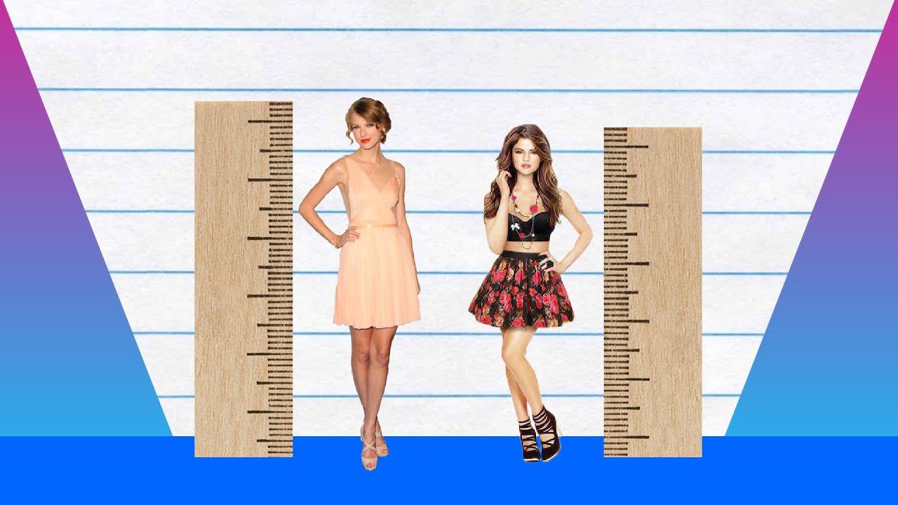 How Much Taller Taylor Swift Vs Selena Gomez Youtube
