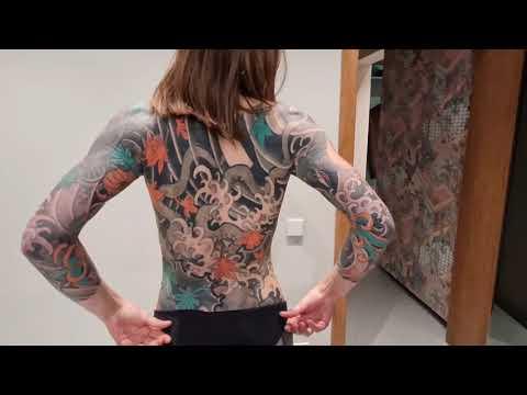 Beautiful Girl With Japanese Tebori Half Body Tattoo!!! японская татуировка .  #手彫り #tatuaggio  Sexy Tattoo For Girls