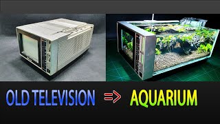 How to Build a Aquąrium Using Old Television