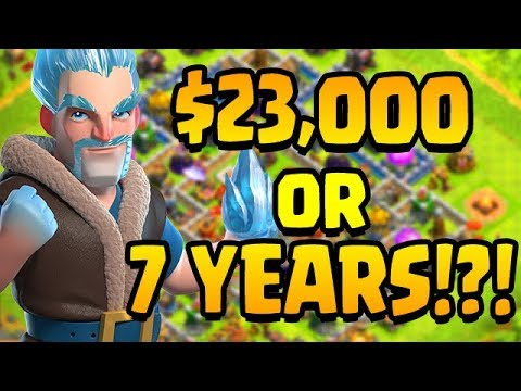 $23 THOUSAND DOLLARS Or 7 YEARS To MAX YOUR CLASH OF CLANS BASE!