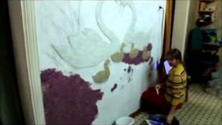 """""""Шелковая штукатурка Silk Plaster"""" ремонт своими руками от участника Акции"""