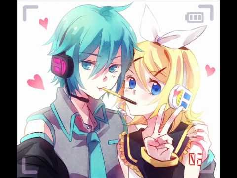 Image result for rin kagamine and mikuo hatsune