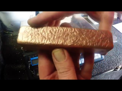 Melting CPU Heat Spreaders into a Copper Nickel Bar