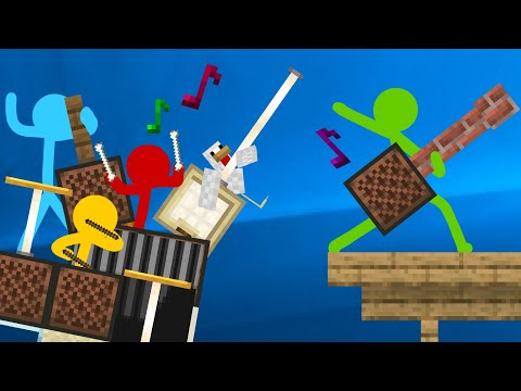 Note Block Battle - Animation Vs. Minecraft Shorts Ep 16 (Music By AaronGrooves)