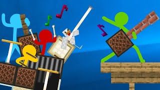 Note Block Battle - Animation vs. Minecraft Shorts Ep 16 Music by AaronGrooves