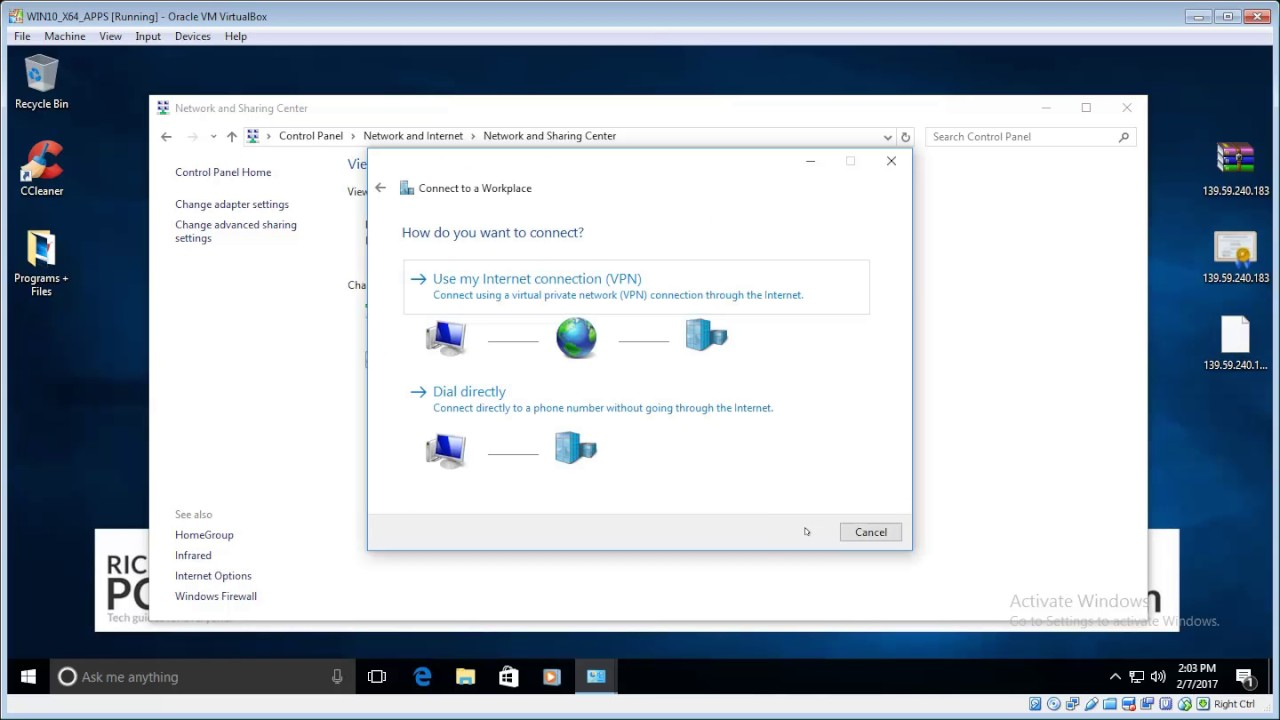 Connect VPN using L2TP/IPSec on Windows (all versions)