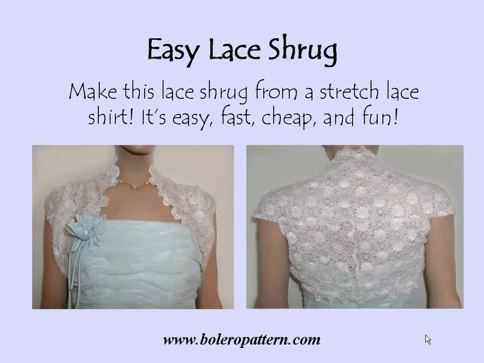 Make an Easy Lace Shrug - YouTube