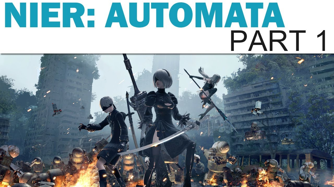 Let's Play NieR: Automata - Part 1 (Blind / Twitch Playthrough)