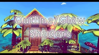 Silhouette Highlight Outline Glow Diffuse Shader In Unity 5 From