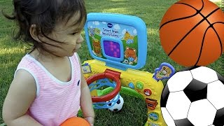 Toddlers Playing and Learning Sports Toys | Half-Hour Basketball Toy Video Compilation For Kids