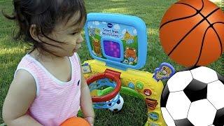 Малюків грати і вчитися спортивні іграшки | півгодини баскетбол іграшки відео збірка для дітей