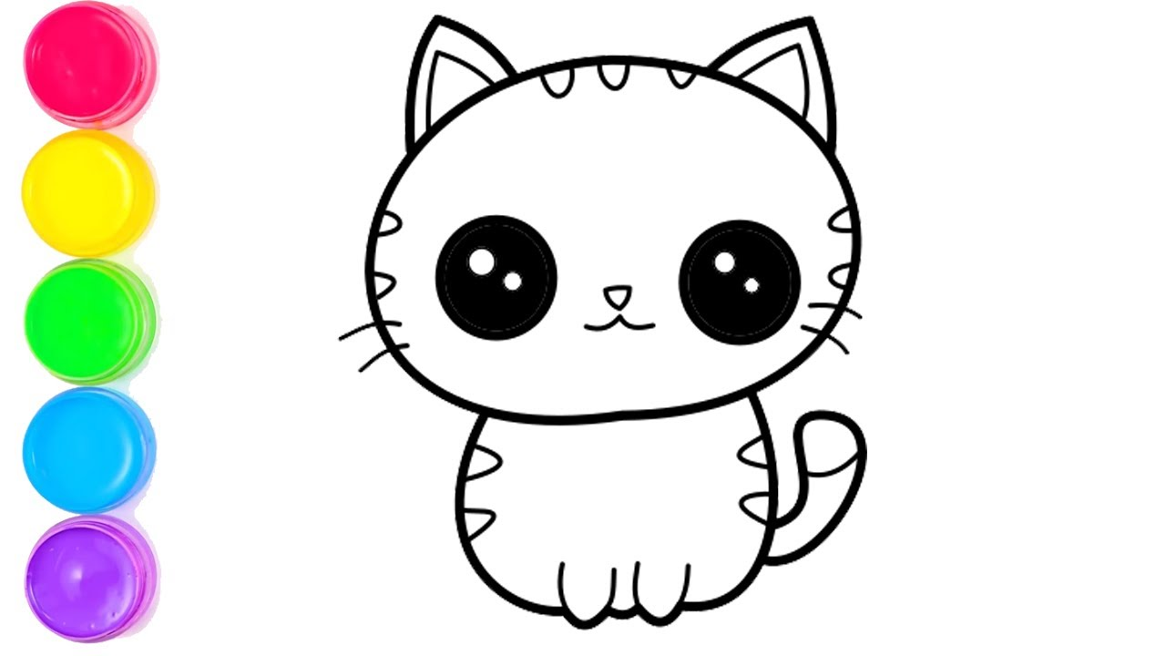 Belajar Mengambar Dan Mewarnai Hewan Kucing Dengan Mudah Terbaru Youtube