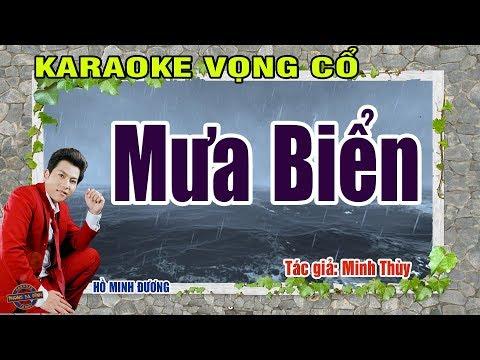Vọng cổ - Mưa biển | Karaoke vọng cổ | beat mới Hồ Minh Đương