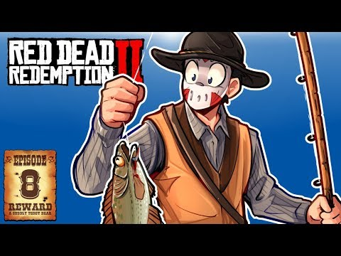 CATCHING FISH & ROBBING TRAINS! - RED DEAD REDEMPTION 2 - Ep. 8!