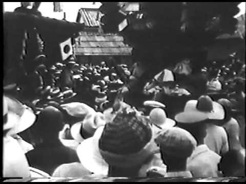 昭和5年(1930) 貝塚夏祭 ふとん太鼓 [モノクロ 音声無し]