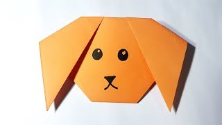 Origami Paper Dog Face   How to Make a Paper Dog Face Easy for Kids