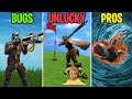 Download GOLF CLUB TO THE SKULL! BUGS vs UNLUCKY vs PROS! Fortnite Battle Royale Funny Moments