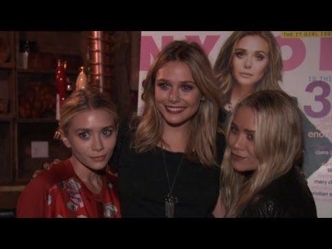 MaryKate and Ashley Surprise Sister Elizabeth Olsen at Nylon Party