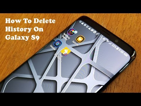 how to delete internet history on galaxy