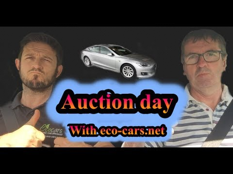 Auction Day For A Tesla Model S