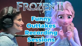 Funny Outtakes Frozen 2 Voice Actors Recording Sessions