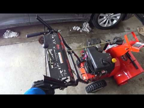 3660 Snow blower  time
