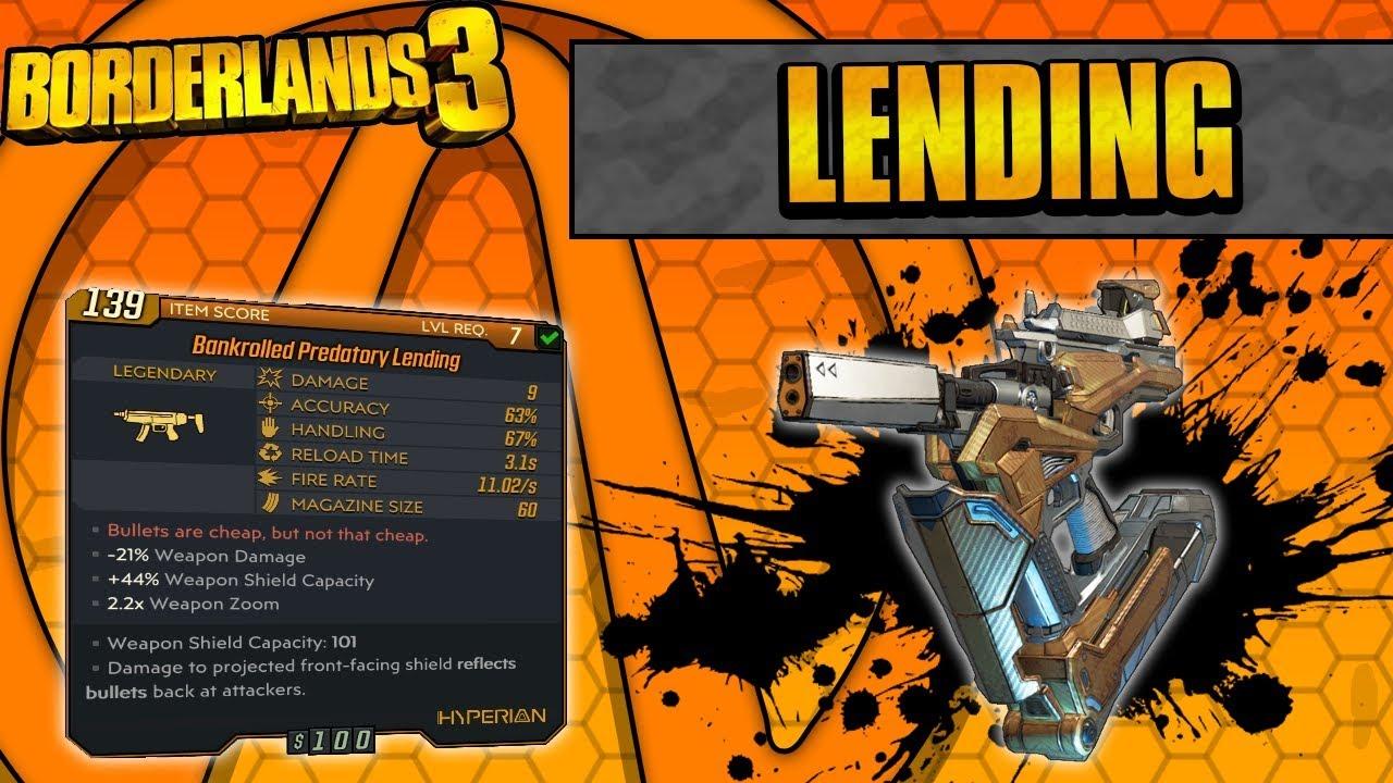 Borderlands 3   Predatory Lending Legendary Weapon Guide (Moneyshot  Returns!)