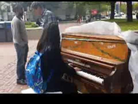 street piano, boston university 2013