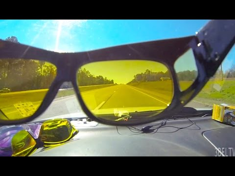HD Vision Sunglasses Variable Gradient Versus Plain Yellow Glasses