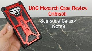 UAG Crimson Monarch Series Case Review : Samsung Galaxy Note 9