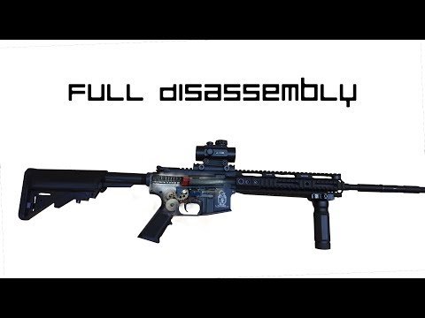 Airsoft AR-15 (M4/M16) Full Disassembly/Reassembly (Airsoft G.I. FMG4-A1)