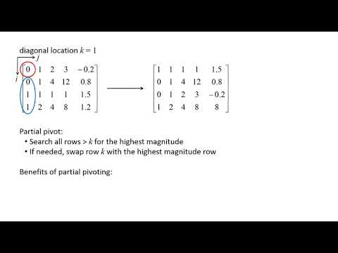 Numerical Modeling: Topic 1.5 - Gaussian elimination with partial pivoting