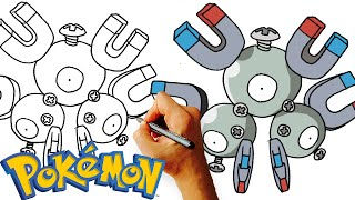 How to Draw Magneton (Pokemon) Drawing Lesson for Kids