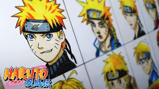 Drawing Naruto in Different Anime/Character Styles 別のアニメスタイルでナルトを描く
